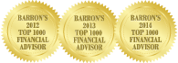 Barron's 2012 2013 2014 Top 1000 Financial Advisor